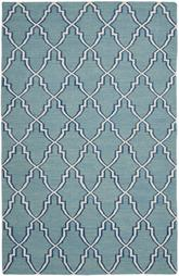 Safavieh Dhurries DHU564B Light Blue and Ivory
