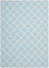 Safavieh Dhurries DHU565B Light Blue and Ivory