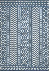 Safavieh Dhurries DHU572A Dark Blue and Ivory