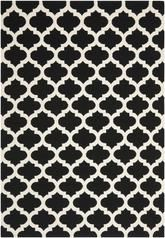 Safavieh Dhurries DHU623A Black and Ivory