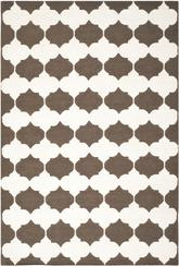 Safavieh Dhurries DHU624C Brown and Ivory