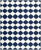 Safavieh Dhurries DHU624D Navy and Ivory