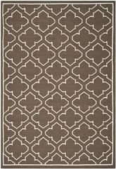 Safavieh Dhurries DHU625C Brown and Ivory