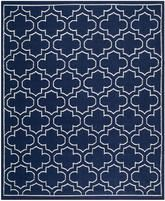 Safavieh Dhurries DHU625D Navy and Ivory