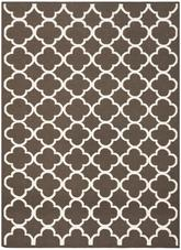 Safavieh Dhurries DHU627C Brown and Ivory