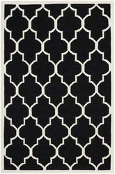 Safavieh Dhurries DHU632A Black and Ivory