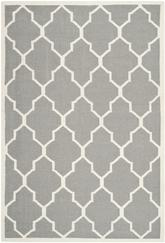 Safavieh Dhurries DHU632B Grey and Ivory