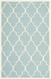 Safavieh Dhurries DHU632C Light Blue and Ivory