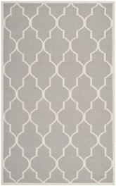 Safavieh Dhurries DHU632G Dark Grey and Ivory