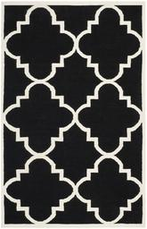 Safavieh Dhurries DHU633A Black and Ivory