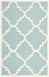 Safavieh Dhurries DHU633C Light Blue and Ivory