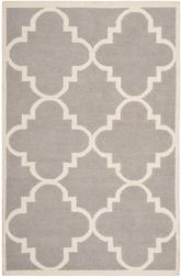 Safavieh Dhurries DHU633G Dark Grey and Ivory
