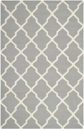 Safavieh Dhurries DHU634B Grey and Ivory