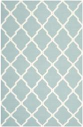 Safavieh Dhurries DHU634C Light Blue and Ivory