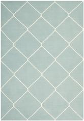 Safavieh Dhurries DHU635C Light Blue and Ivory