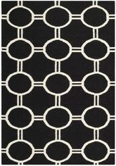 Safavieh Dhurries DHU636A Black and Ivory