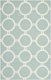 Safavieh Dhurries DHU636C Light Blue and Ivory