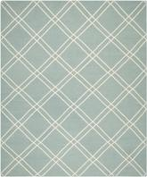 Safavieh Dhurries DHU638C Light Blue and Ivory