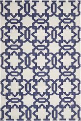 Safavieh Dhurries DHU751B Ivory and Purple
