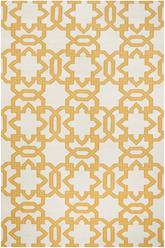 Safavieh Dhurries DHU751C Ivory and Yellow