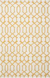 Safavieh Dhurries DHU753C Ivory and Yellow