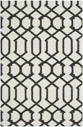 Safavieh Dhurries DHU753D Ivory and Charcoal