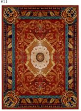 Safavieh Empire EM424A Red and Burgundy