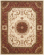Safavieh Empire EM459A Ivory and Red