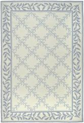 Safavieh DuraRug EZC430A Ivory and Light Blue