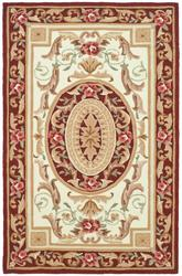 Safavieh DuraRug EZC472A Ivory and Burgundy
