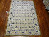 Safavieh DuraRug EZC479A Ivory and Blue
