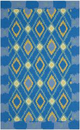 Safavieh Four Seasons FRS455D Indigo and Yellow