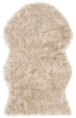 Safavieh Faux Sheep Skin FSS346C Beige and Brown