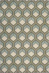 Safavieh Hampton HAM512BD Dark Grey and Light Blue