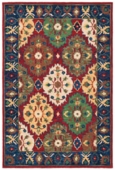 Safavieh Heritage HG354Q Red and Blue