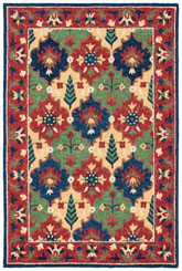 Safavieh Heritage HG355Q Red and Green