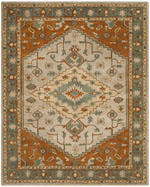 Safavieh Heritage HG406A Light Blue and Rust