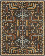 Safavieh Heritage HG409A Charcoal and Multi