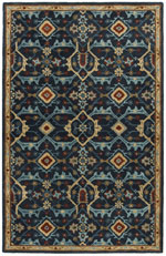 Safavieh Heritage HG416N Navy and Multi