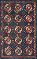 Safavieh Heritage HG424N Navy and Red