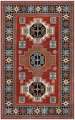 Safavieh Heritage HG744Q Red and Black