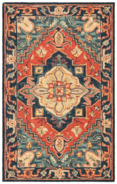 Safavieh Heritage HG920Q Red and Navy