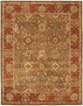 Safavieh Heritage HG952A Moss and Rust