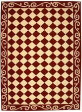 Safavieh Chelsea  HK711C Burgundy and Ivory