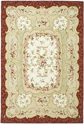 Safavieh Chelsea  HK73A Ivory and Burgundy