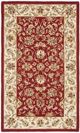 Safavieh Chelsea  HK78B Burgundy and Ivory