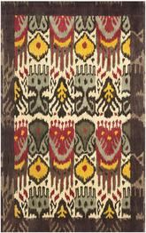 Safavieh Ikat IKT217A Creme and Brown
