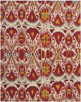 Safavieh Ikat IKT226A Ivory and Red