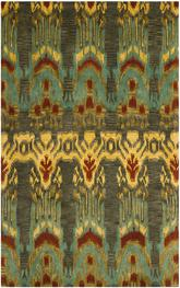Safavieh Ikat IKT464B Olive and Gold