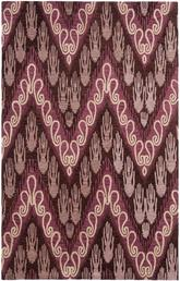 Safavieh Ikat IKT473A Dark Brown and Purple